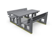 PARK WEEKEND PICNIC TABLE GROUP, GREY
