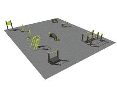 Senior Park, middle body and walking