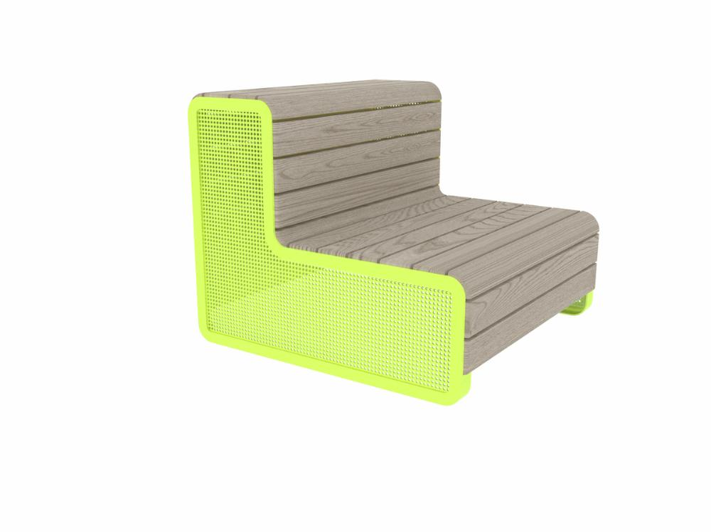 CHILLOUT SOFA, DEEP MOUNTING WITH FOUNDATION PLATES