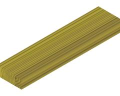 004307SP SWING WOOD SUPPORT 70x195x800 YELLOW