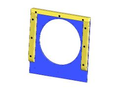 ENTRY PLATE 95x1100x1125 BLUE 120M