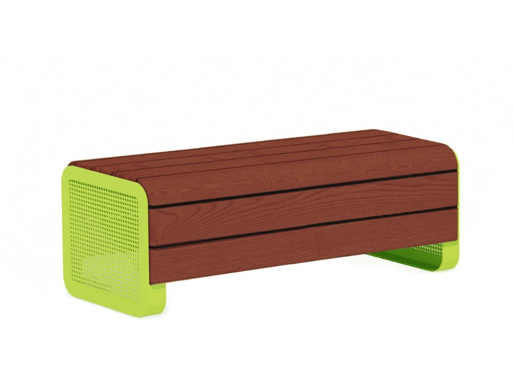 Chillout bench, jatoba, deep mounting with wet concrete